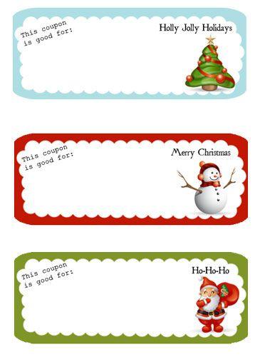 free printable holiday coupons.