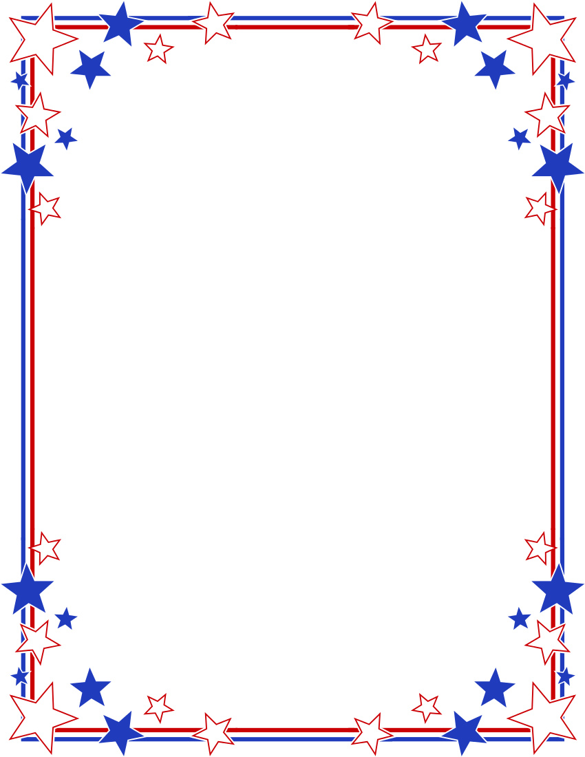 Red White And Blue Border Clipart.