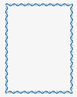 Free Blue Border Clip Art with No Background.