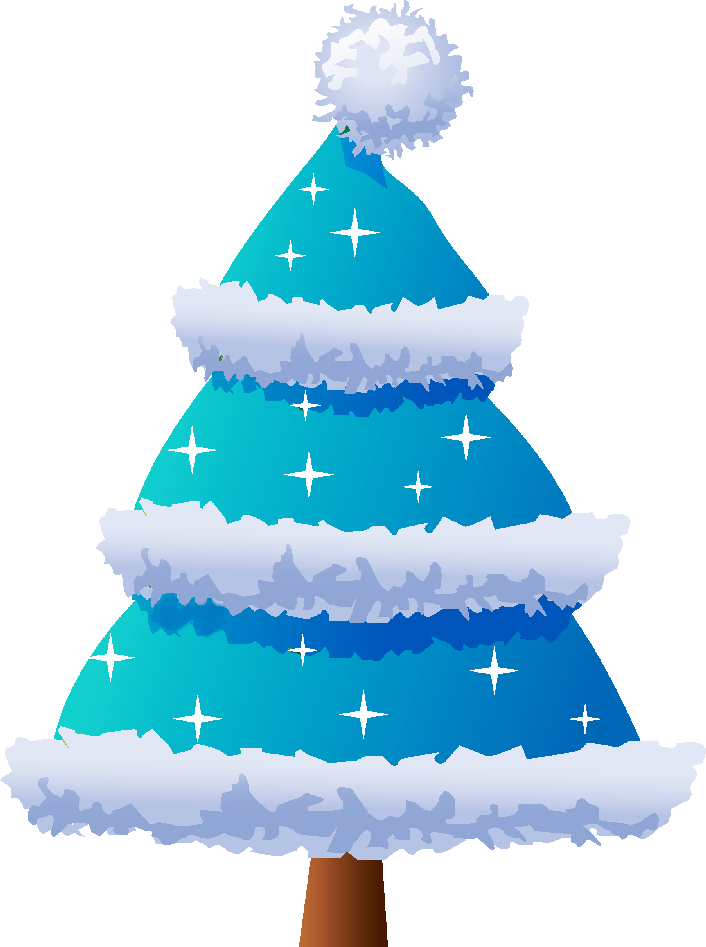 Christmas clip art blue.