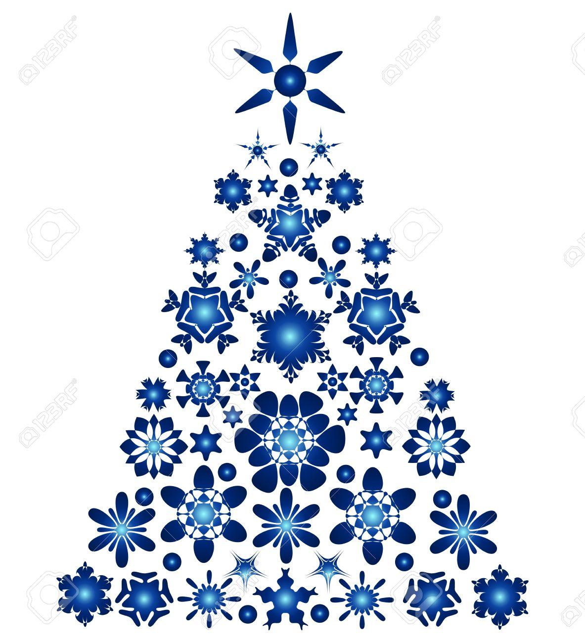 Blue Xmas Tree Clipart.