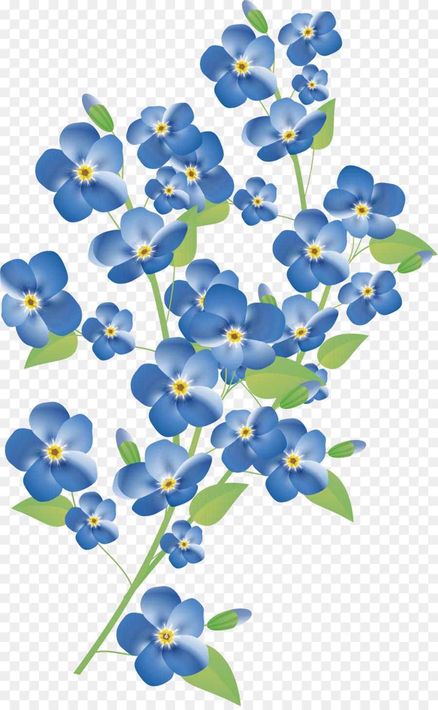 Blue, Flower, Plant, transparent png image & clipart free download.