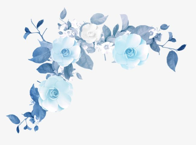 Blue Flower Border Texture, Flower Clipart, Blue, Flowers PNG.