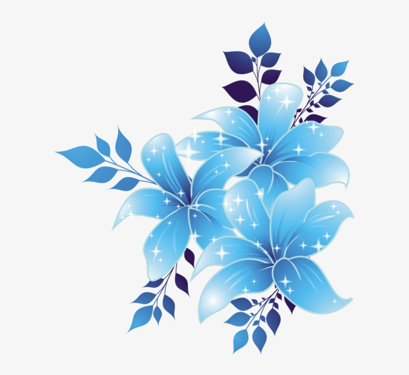 Free Download Blue Flowers Png Clipart Borders And.
