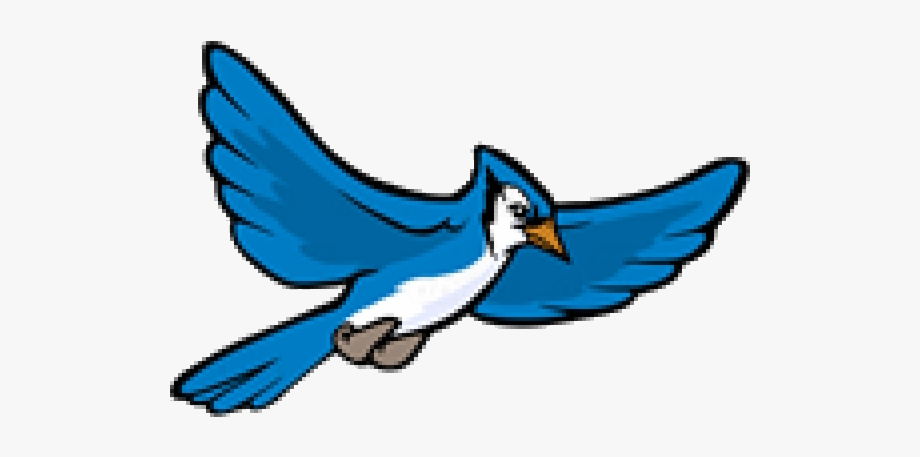 Blue Jay Clipart Flying Transparent Png.