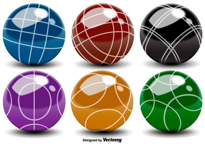 Vector Bocce Balls Color Icons.