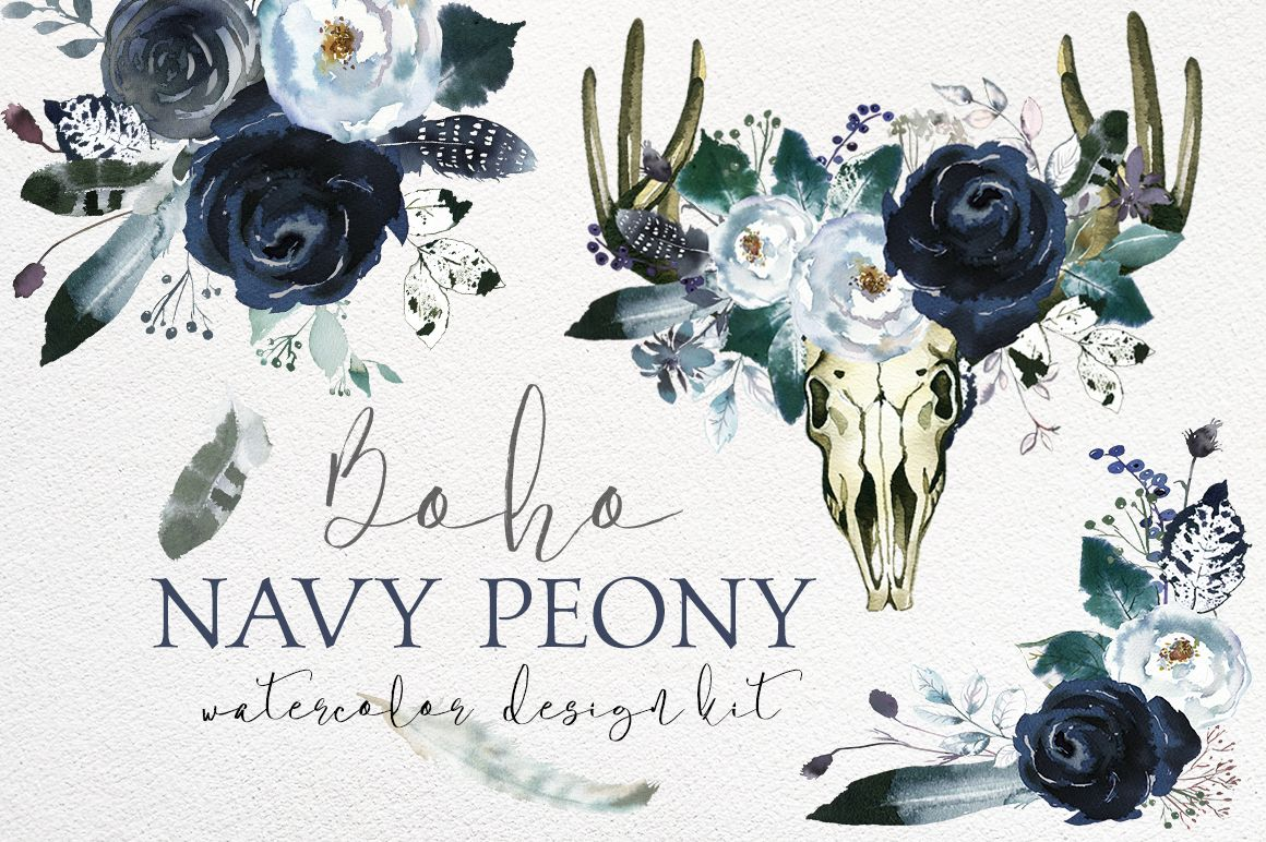 Free Boho Floral Arrow Clipart.