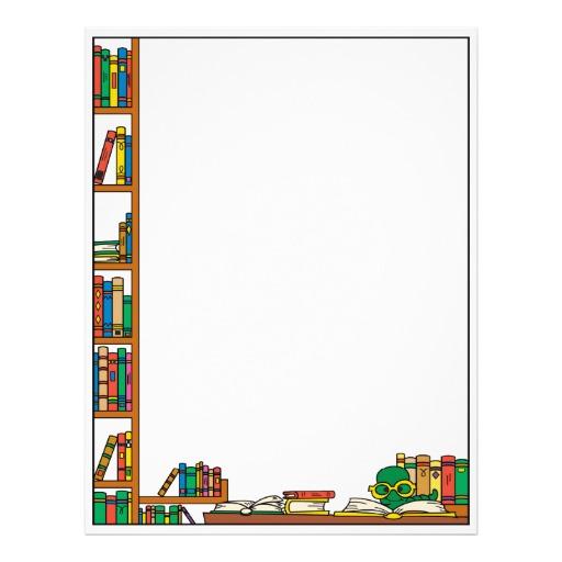 Books Border Design Clipart.