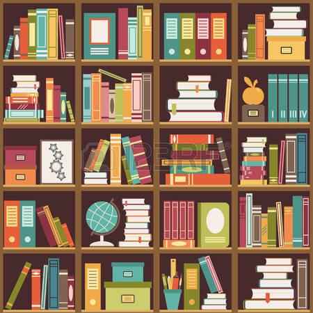 Bookshelf Clipart Free.