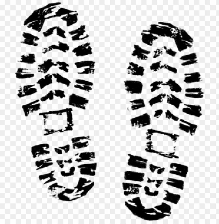 transparent footprints shoe.