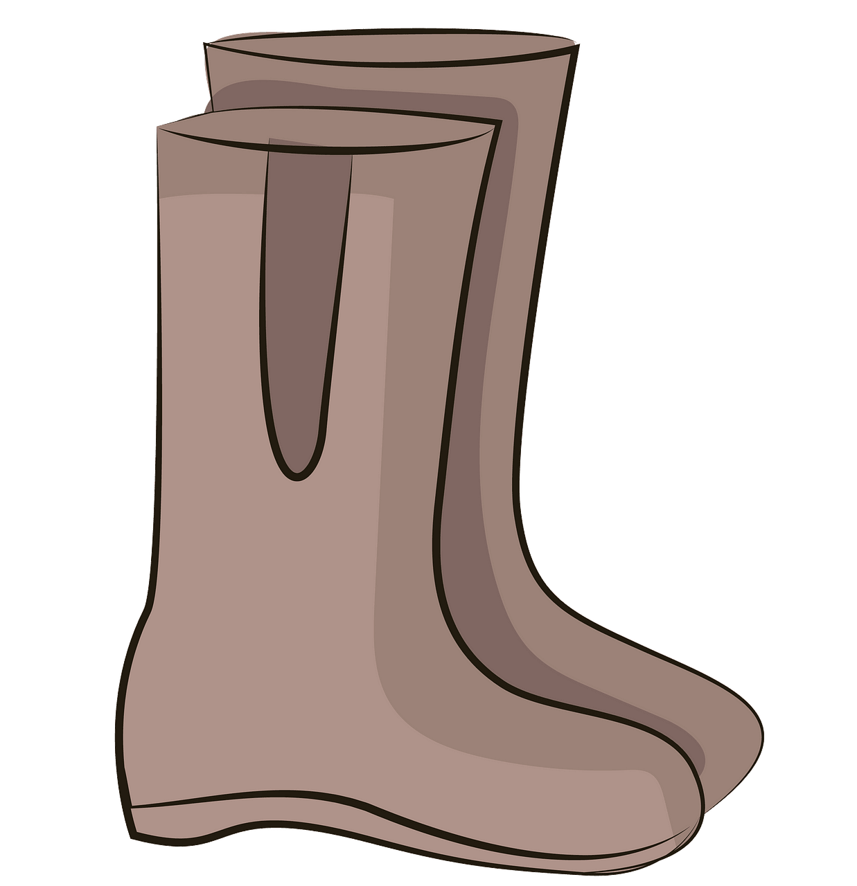Rain boots clipart. Free download..