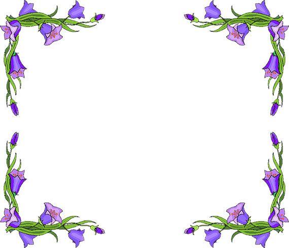 Free Flower Borders.