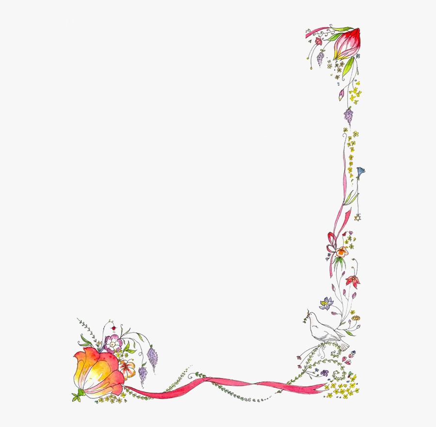 Flower Borders And Frames Clipart.