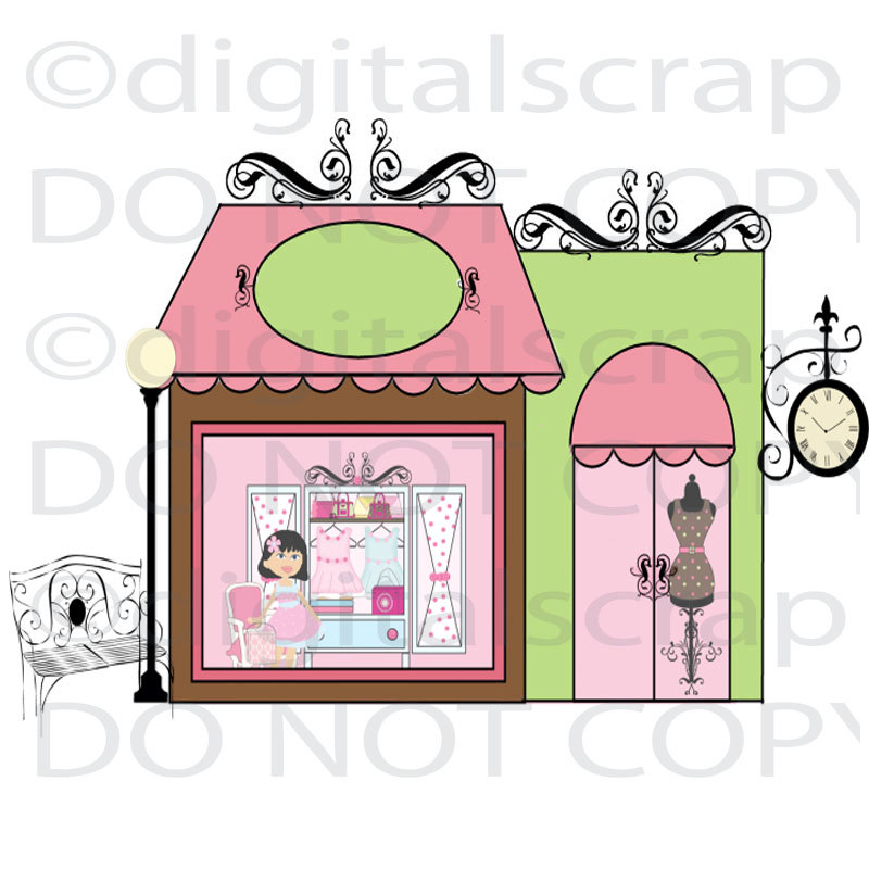 Collection of 14 free Storefront clipart boutique store crabs.