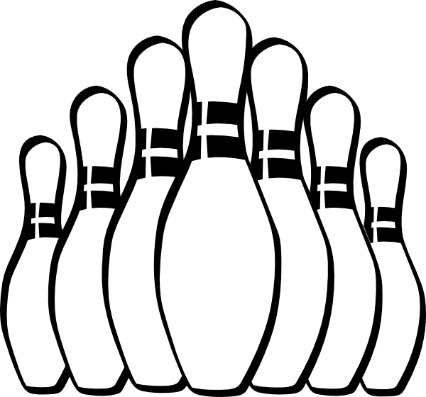 Free Bowling Clipart Black And White, Download Free Clip Art.