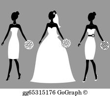 Bridal Party Clip Art.