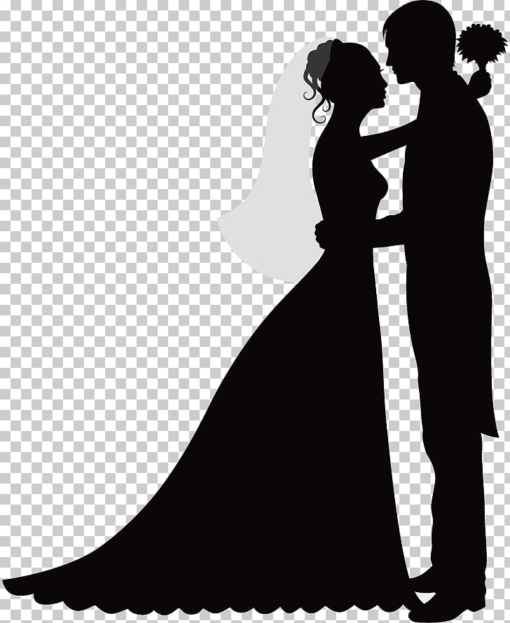 Wedding invitation Bridegroom Silhouette, wedding season PNG.