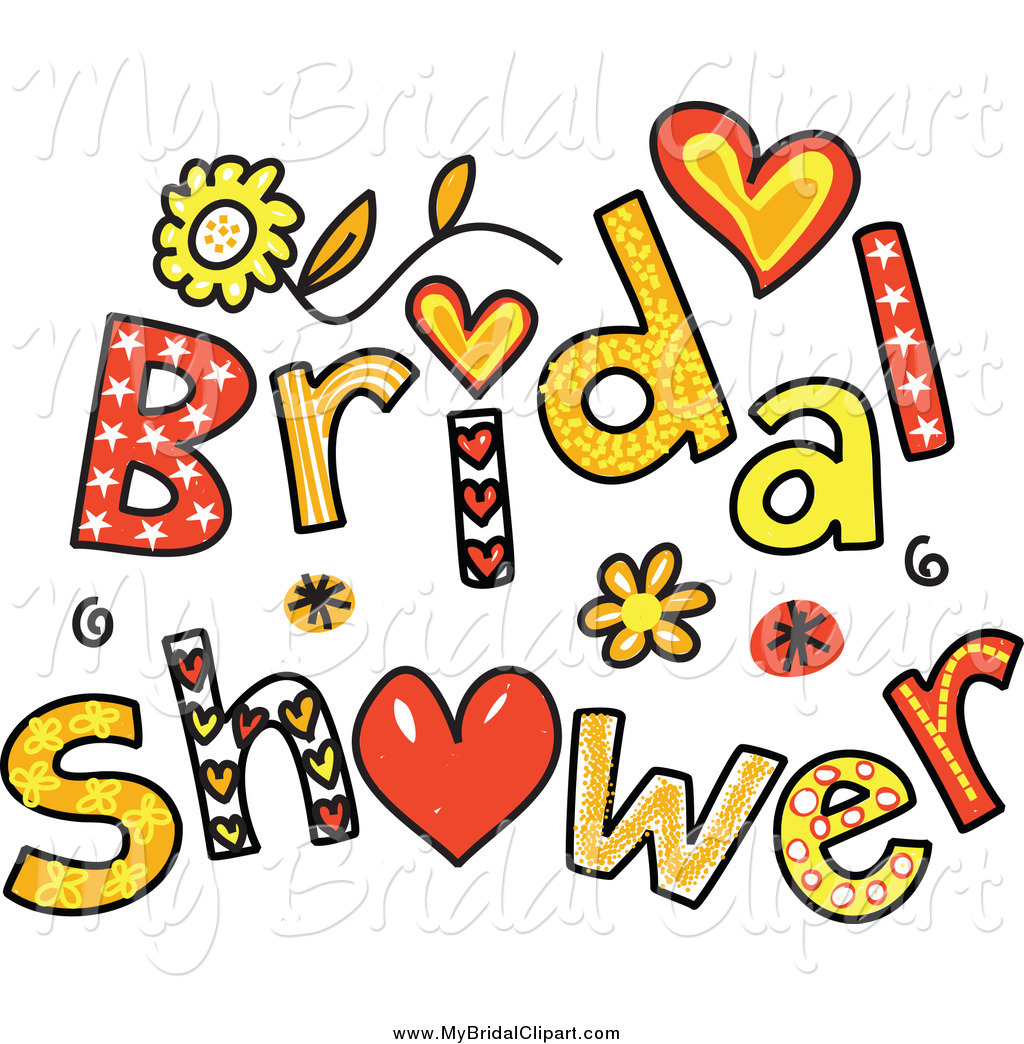 Bridal Clipart of Colorful Bridal Shower Text by Prawny.