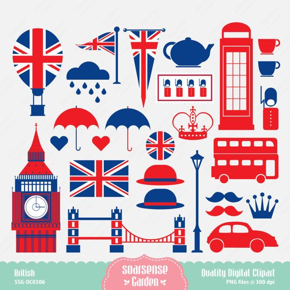 British Digital Clipart London Clipart England Clipart by.