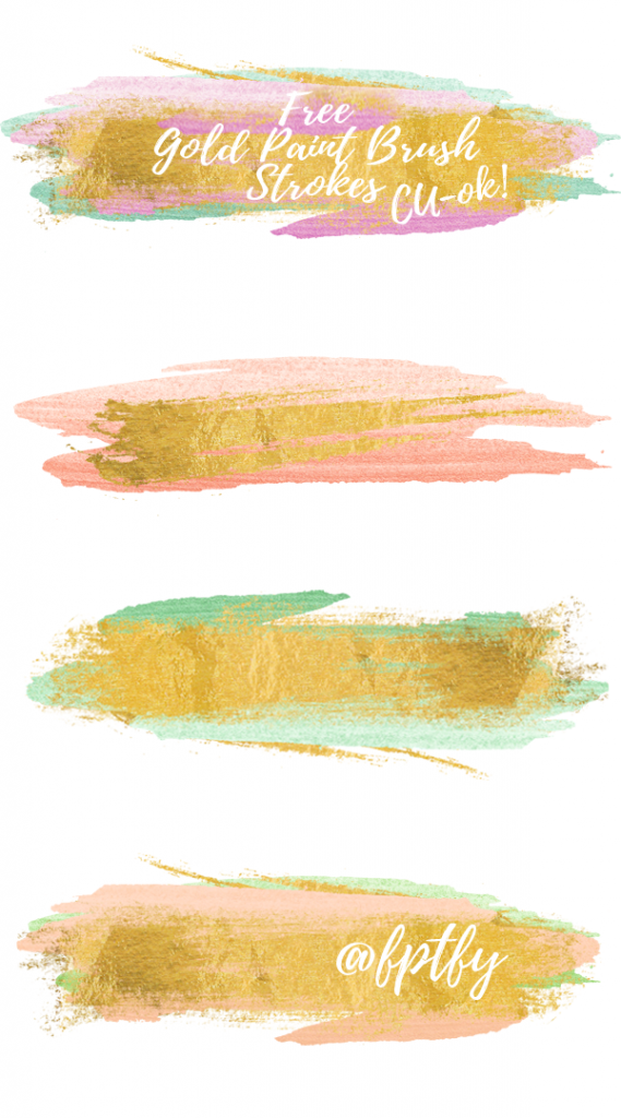 Free Gold Paint Brush Strokes.