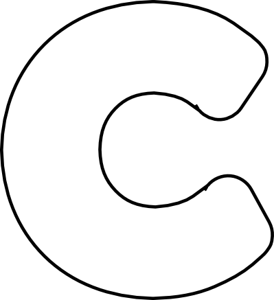 Bubble Letter I Clipart.