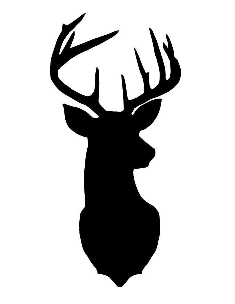 Best Deer Buck Head Clip Art Images » Free Vector Art, Images.