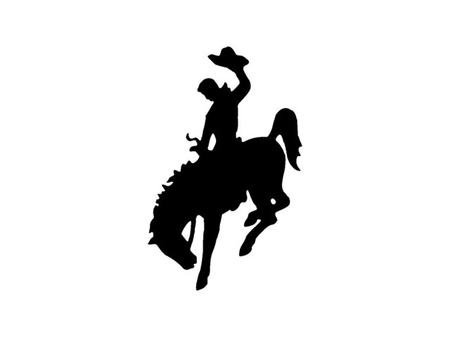 Wyoming Horse Bronc riding Bucking Clip art.