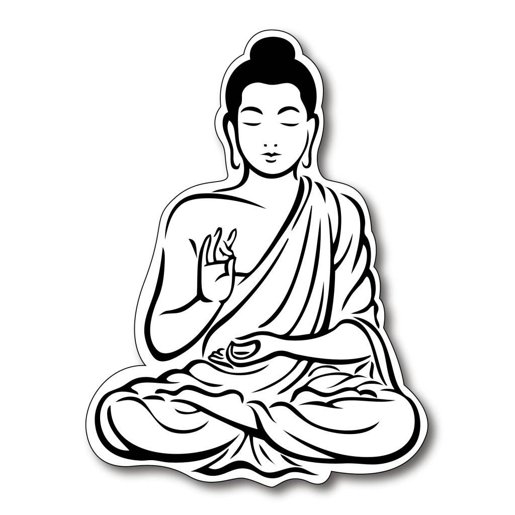 Laughing Buddha Drawing.