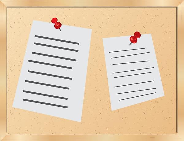 Bulletin board Free content , Bulletin transparent.