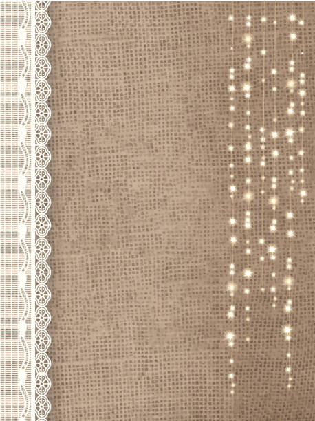 Burlap And Lace Illustrations, Royalty.