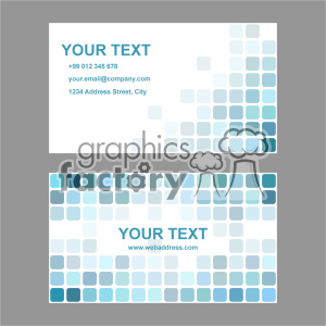 vector business card template set 004 clipart. Royalty.