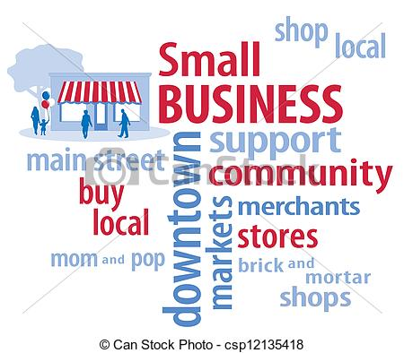 Small Business, Red, White and Blue.