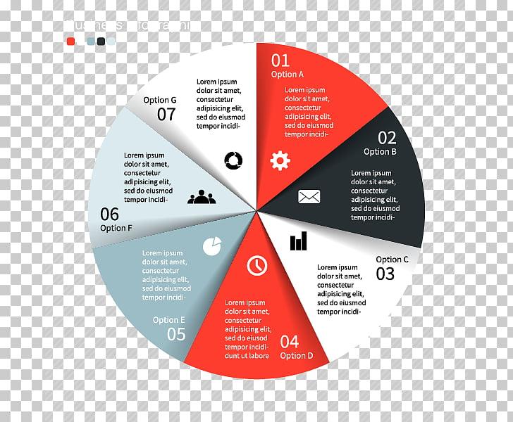 Pie chart Infographic, Business graphics design, flat, UI.