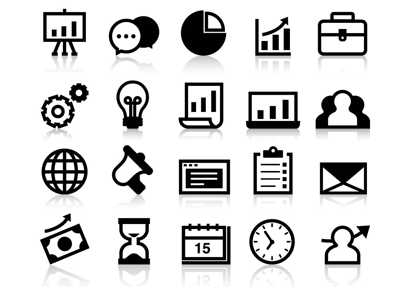 Business Grow Up Icons Vector.