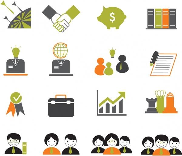 Business icons Free vector in Adobe Illustrator ai ( .AI.