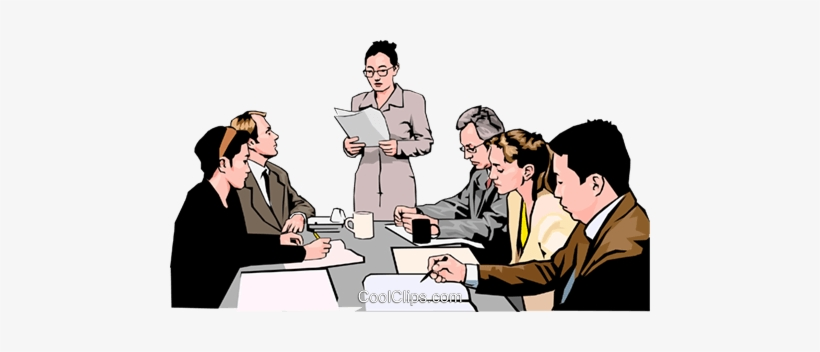 Business Meeting, People In Business Royalty Free Vector.