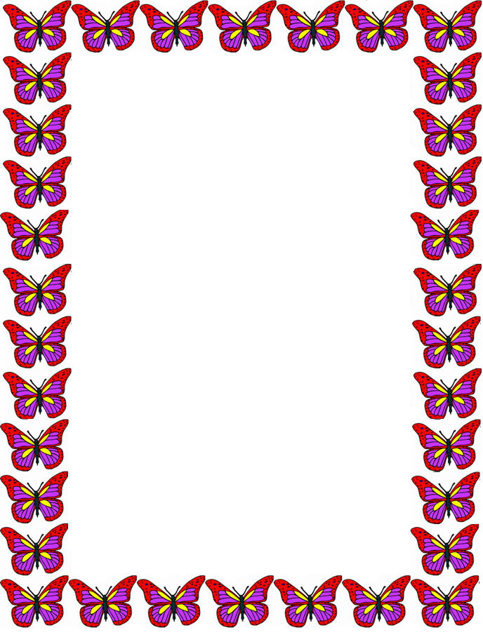 Butterfly Clipart Border.