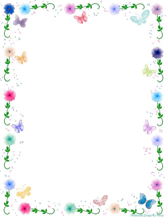 Free Butterfly Borders Clip Art.