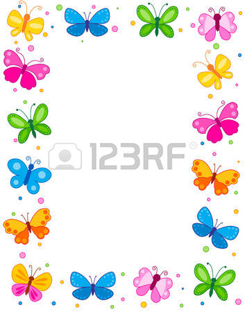 11,845 Butterfly Border Stock Illustrations, Cliparts And Royalty.