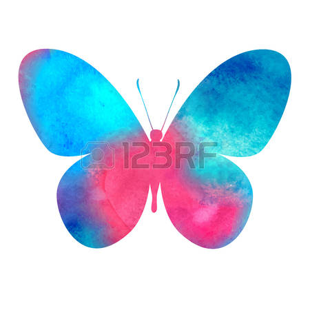 4,393 Watercolor Butterfly Stock Vector Illustration And Royalty.