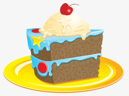 Free Cake Slice Clip Art with No Background.