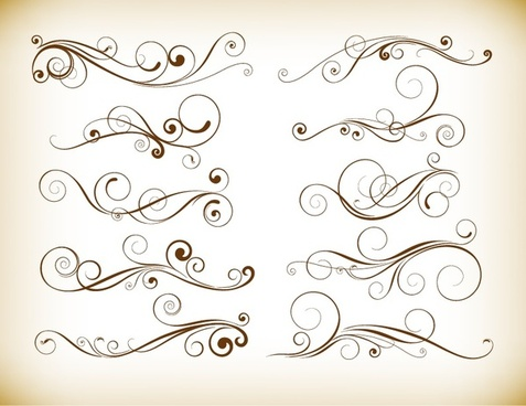 Calligraphic flourish vector free vector download (2,023.