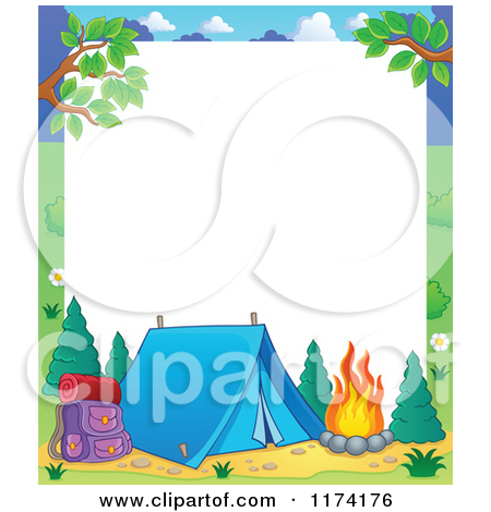 Camping border clipart 6 » Clipart Station.