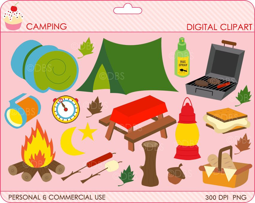 digital clipart camping clip art outside woods.