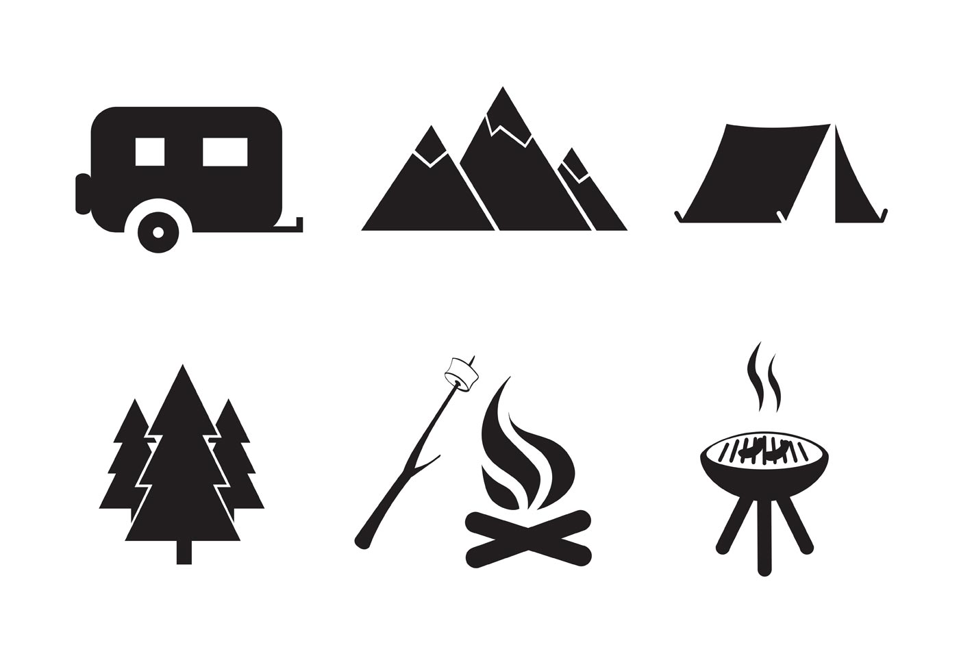 Camping Free Vector Art.