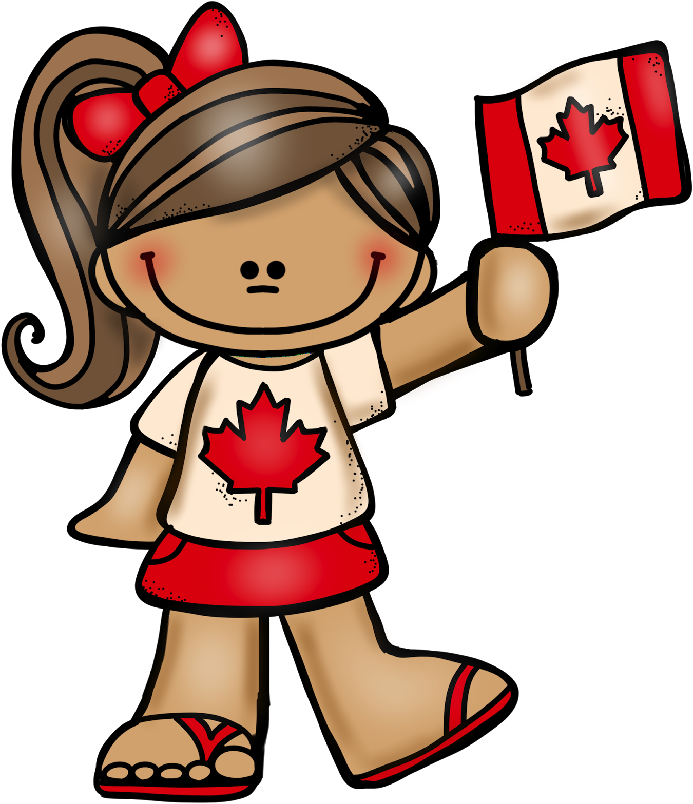 July 1st Is Canada Day Here Is A Canadian Boy And Girl.