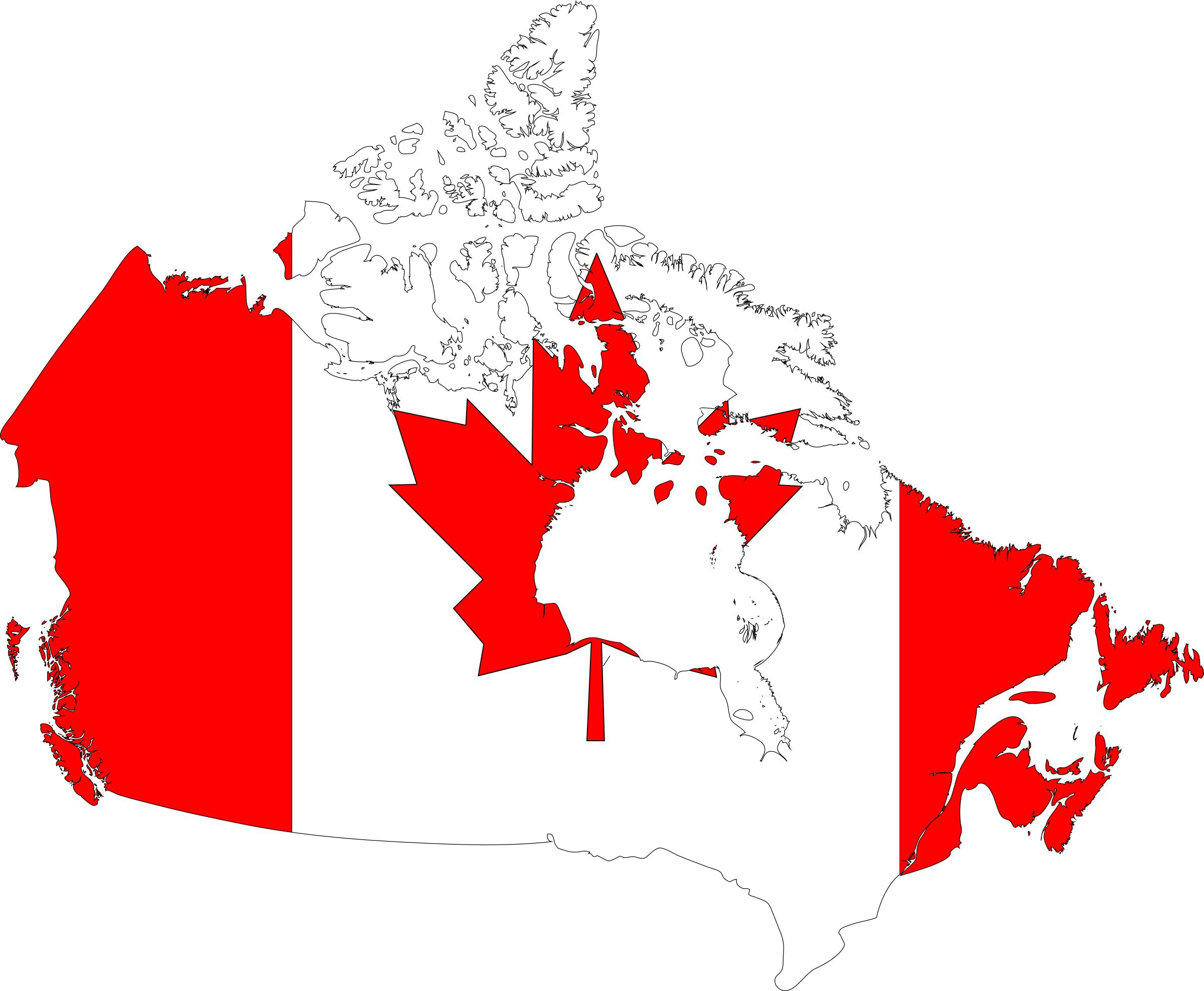Canada Map Flag Icons PNG.