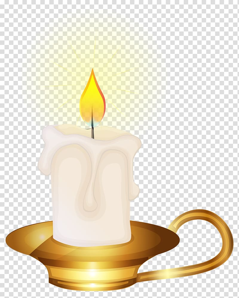Birthday cake Candle , Yellow Candle transparent background PNG.