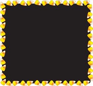 Candy Corn Border Clipart.