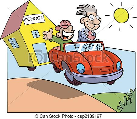 Student car Vector Clipart Royalty Free. 841 Student car clip art.